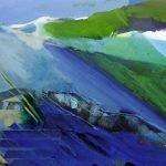 Horizonte 15-10 Pigmente, Sand, Acryl auf Leinwand 145 x 100 cm 2015