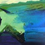 Horizonte 15-11 Pigmente, Sand, Acryl auf Leinwand 145 x 100 cm 2015