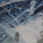 Horizonte 15-5 Pigmente, Sand, Acryl auf Leinwand 115 x 95 cm 2015