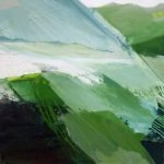 Horizonte 15-9 Pigmente, Sand, Acryl auf Leinwand 90 x 90 cm 2015