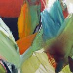 Plantares 14-4 Pigmente, Sand, Acryl auf Leinwand 140 x 100 cm 2014