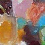 Passion - Farbe zwischen Finsternis und Licht 3 Pigmente, Acrylbinder auf Leinwand, 80 x 30 cm 2014