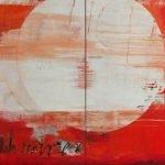 Passion - Farbe zwischen Finsternis und Licht Pigmente, Acrylbinder auf Leinwand, 2-teilig 200 x 400 cm 2014