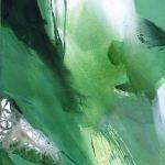Schöpfung - Welt innen - Welt außen Pflanzen Pigmente Acryl Öl auf Leinwand 100x200 cm 2012